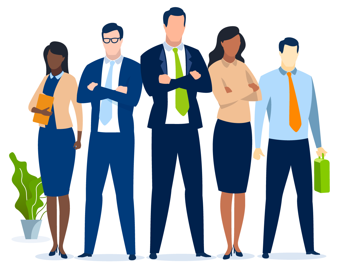 Group of working professionals