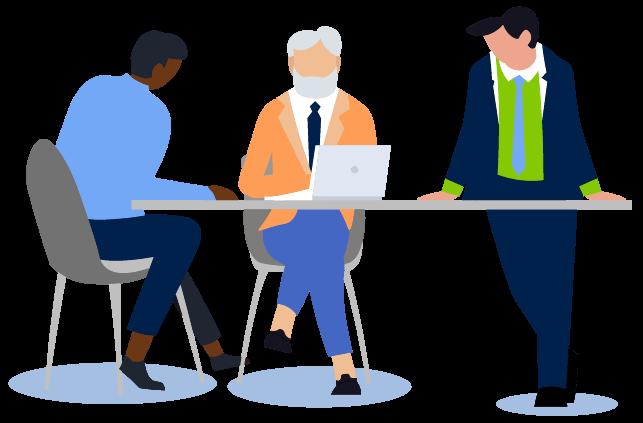 Office people working illustration