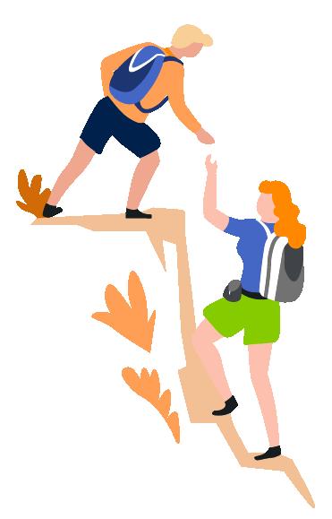 people climbing during hiking
