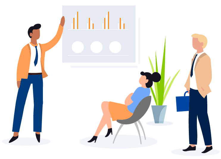 person presenting in meeting illustration