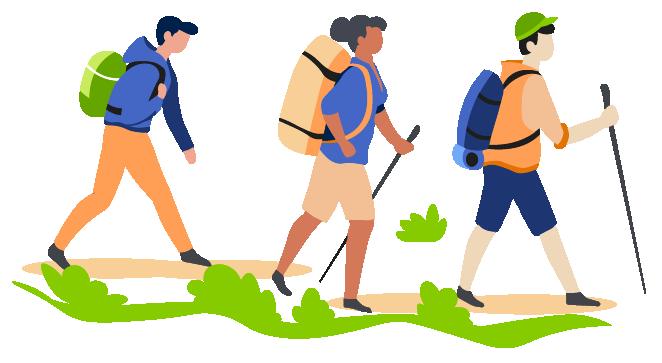 Hikers illustrations