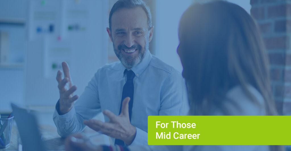 Career people in meeting