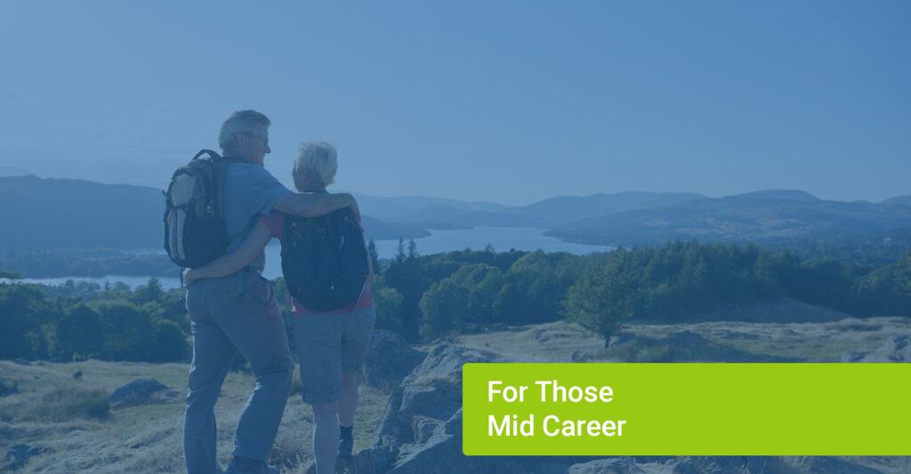 Older couple hiking together