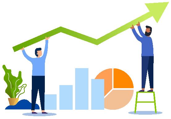 Money Investment teamwork Illustration